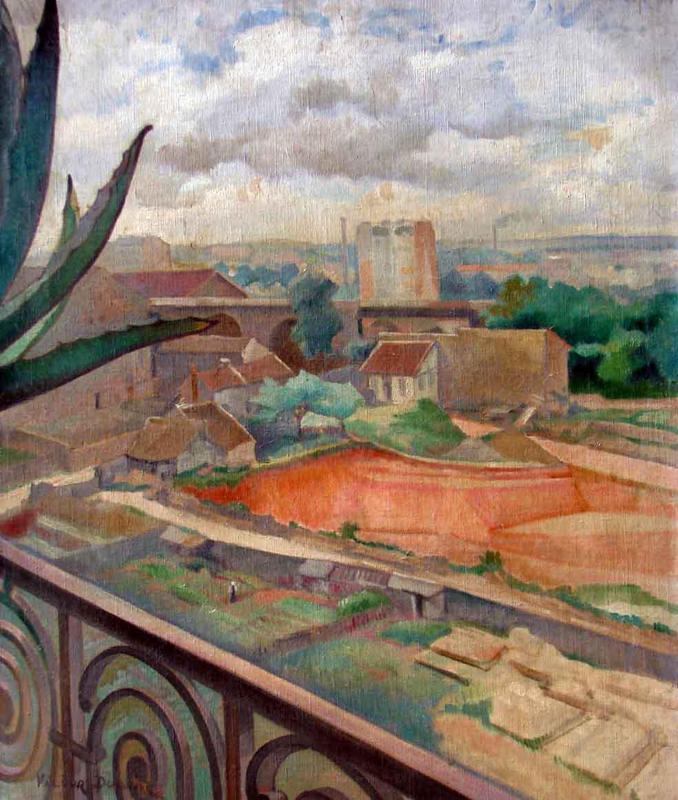 """""""Jardins de Vaugirard"""", huile sur toile (73cm x 60cm), années 1930, collection privée, Paris."""