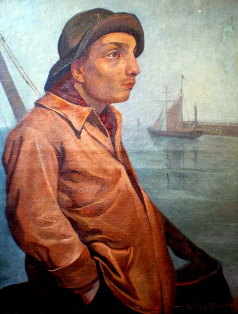 """""""Islandais"""", huile sur toile (65cm x 50cm), 1924, collection musée Maison de la Beurière, Boulogne-sur-mer."""