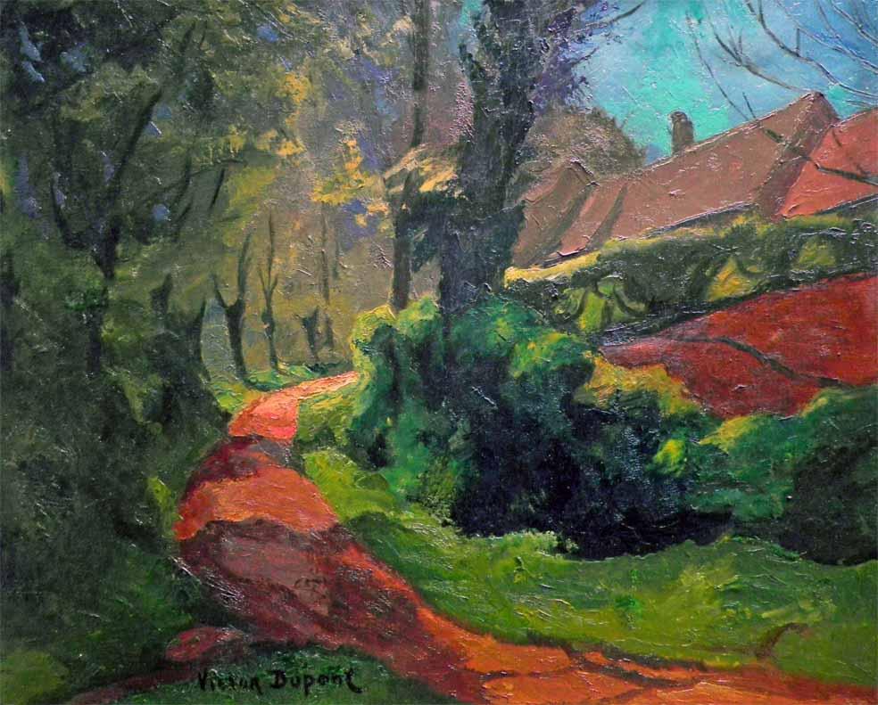 """""""Le Chemin"""", huile sur toile (55cm x 46cm), années 1910, collection Yann Gobert-Sergent."""