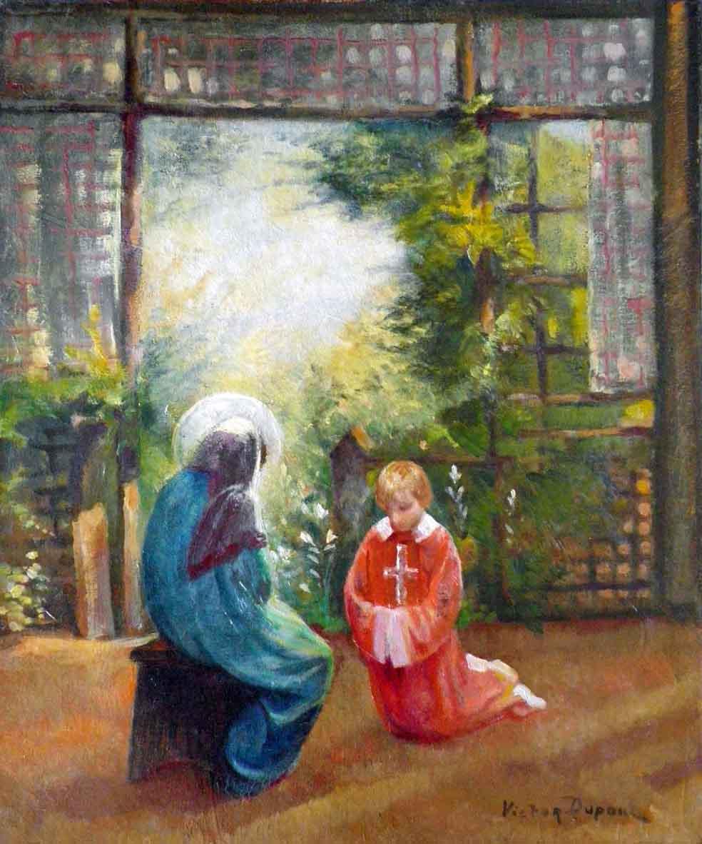 """""""L'Annonciation"""", huile sur toile (55cm x 46cm), 1925, collection Yann Gobert-Sergent."""