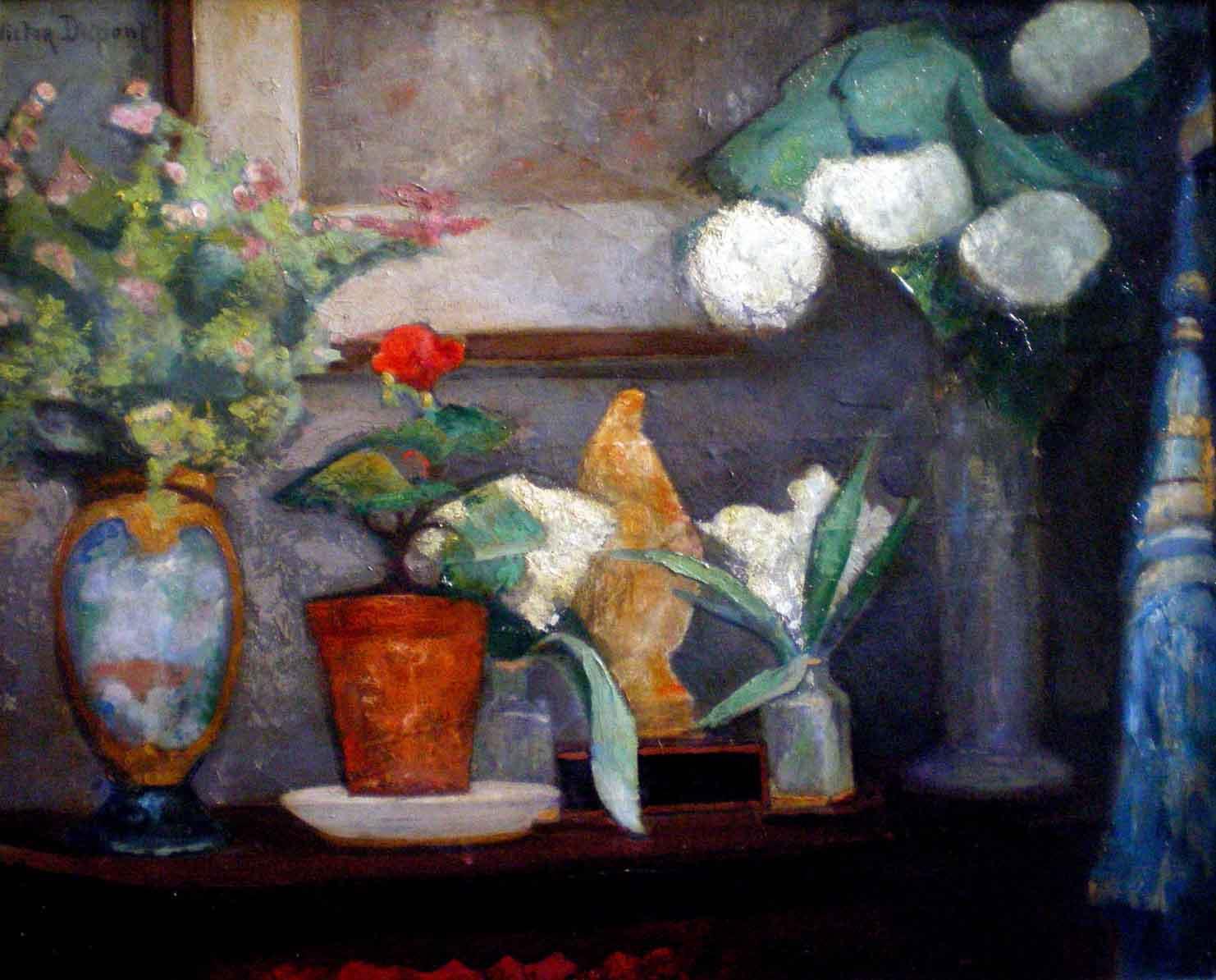 """""""Le Mois de Marie"""", huile sur panneau (51cm x 63cm), 1922, collection Yann Gobert-Sergent."""