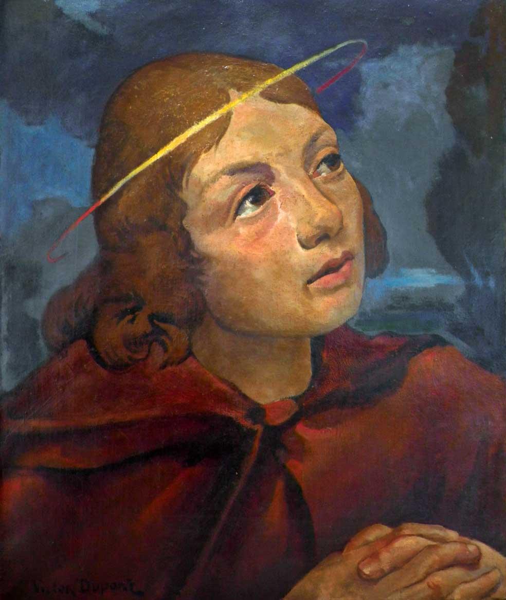 """""""Saint-Jean"""", huile sur toile (55cm x 46cm), 1928, collection Yann Gobert-Sergent."""