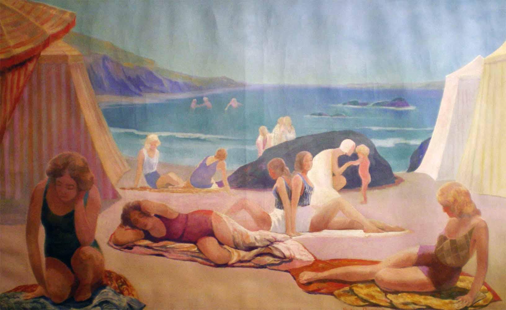« Les Baigneuses », huile sur toile (146cm x 89cm), 1938, collection JLM, France.