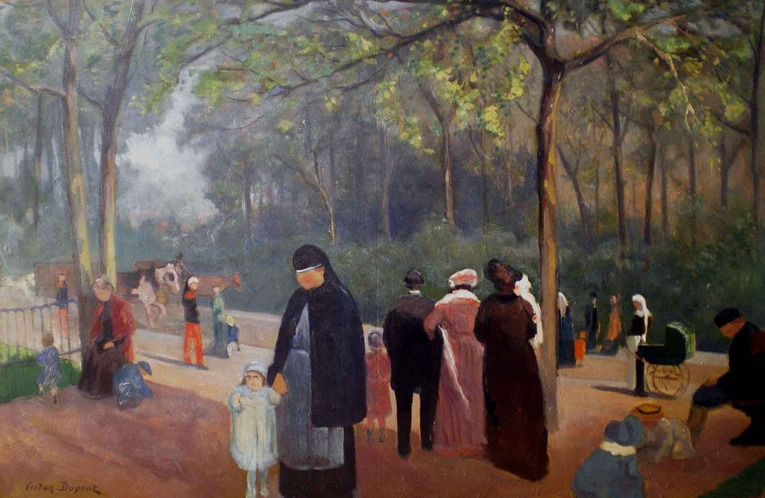 « Boulevard des Invalides », huile sur toile (100cm x 73cm), vers 1900, collection JLM, France.