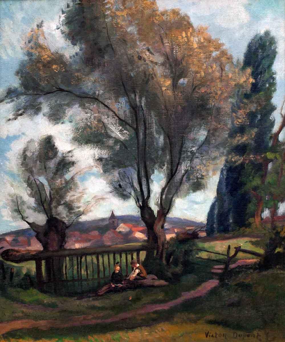 """""""La Barrière aux Saules, près d'Avallon"""", huile sur toile (64cm x 54cm), 1928, Salon des Indépendants de 1935, collection privée, Suède."""