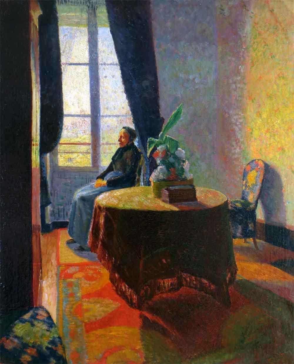 """""""Matin de Printemps"""", huile sur toile (65cm x 54cm), années 1930, collection privée, France."""