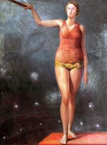 """""""La Voltigeuse"""", huile sur toile (88cm x 65cm), années 1930, dépôt Fondation Victor Dupont."""